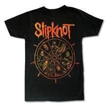 SLIPKNOT THE WHEEL BLACK T SHIRT NEW OFFICIAL ADULT METAL BAND MUSIC Men Short Sleeves T-Shirt Top Tee Basic Tops
