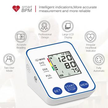 Blood Pressure Monitor Upper Arm Automatic Digital Blood Pressure Monitor Cuff Home BP Sphygmomanometers with