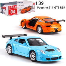 1:39 PorscheGT3 Alloy pull-back vehicle model Diecast Metal Model Car