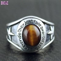 S925 pure silver Thailand imports heavy fine men's veterans die imported Silver Ring Men's rings