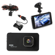 4 car dash camera 3 lens dvr full hd 1080p night vision video recorde smart touch screen backup rear camera driving recorder 4 inch HD 1080P Dual Lens Car Dash Cam Touch Screen Dashcam Dash Camera Driving Recorder SD Cam Night Vision