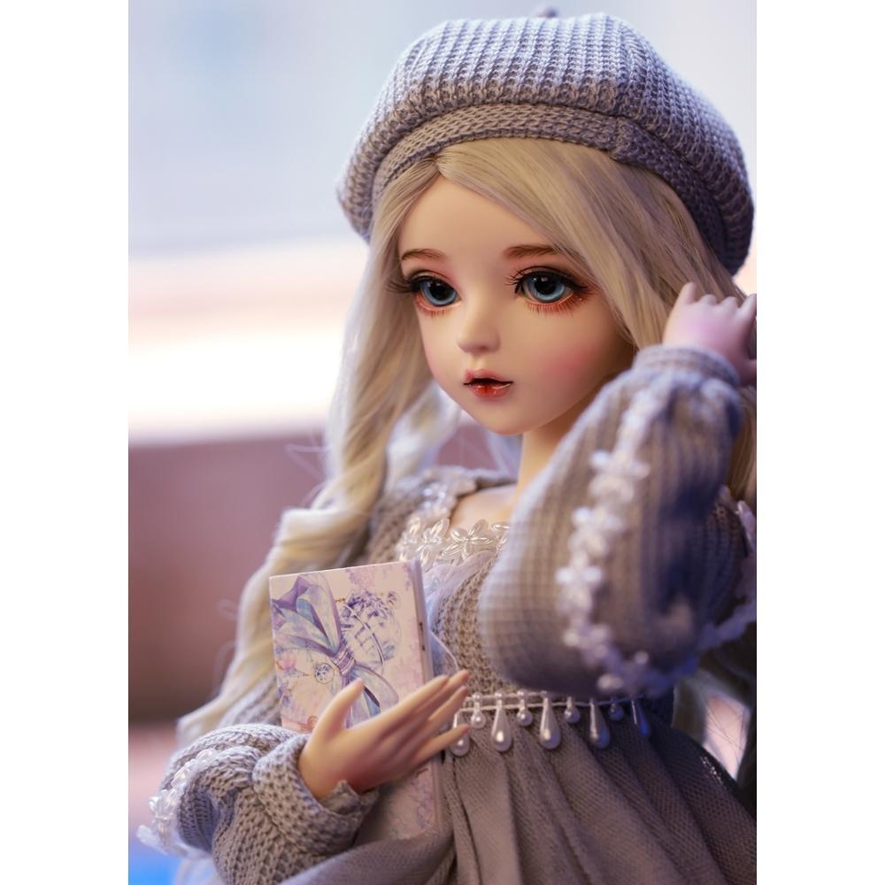 Шарнирная кукла 60 см, подарки для девочки, кукла с серебряными волосами и одеждой, кукла NEMEE со сменными глазами, лучший подарок на день Святого Валентина, ручная работа 4