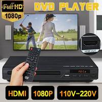 Multi sistema 1080 p hd dvd player  portátil usb 2.0 3.0 dvd player multimídia digital dvd tv suporte hdmi cd svcd função mp3 vcd