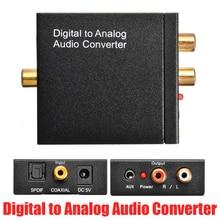 цена на 3.5mm Jack Digital to Analog Audio Converter Digital Optical Fiber Coaxial to 2 RCA L/R Audio Amplifier Decoder Adapter