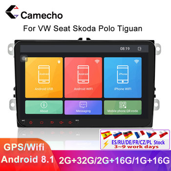Camecho 2Din Car Radio Android 8.1 Car Multimedia Player Autoradio Bluetooth 2 Din Car Stereo For VW Volkswagen Skoda Polo Golf image