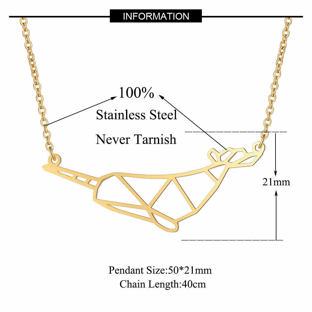 Unique Narwhal Necklace LaVixMia Italy Design 100% Stainless Steel Necklaces for Women Super Fashion Jewelry Special Gift