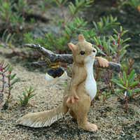 Tägliche Sammlung Eichhörnchen Tier figurine Miniaturen Fee Garten Ornamente hause dekoration freunde geschenk bonsai decor