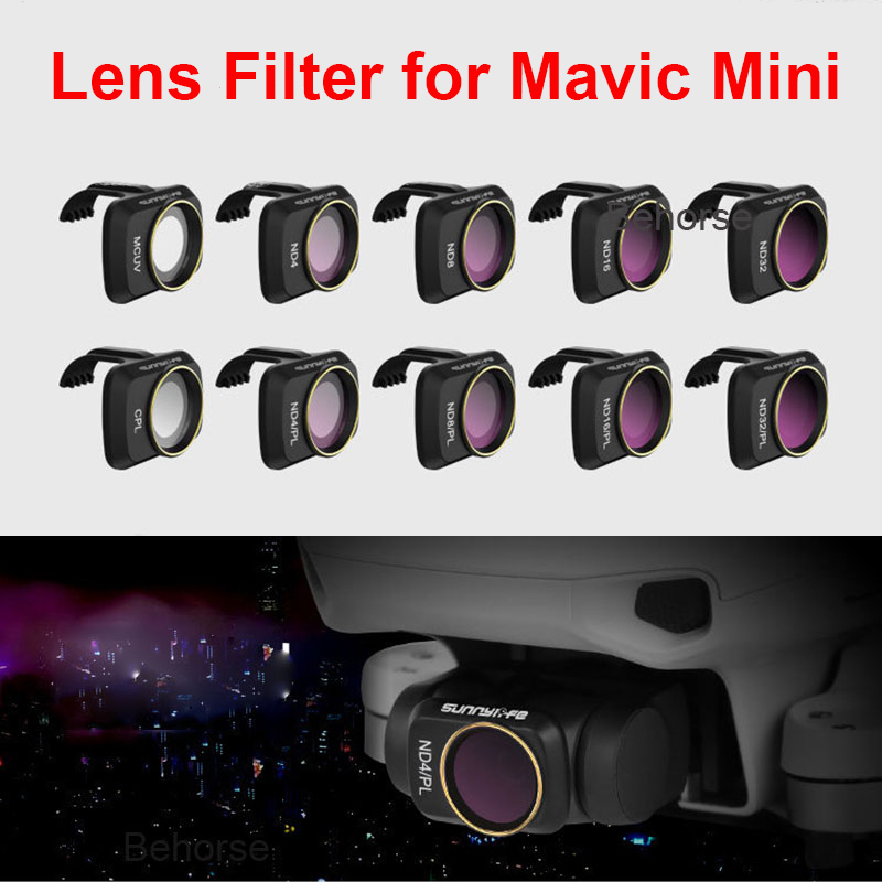Nouveau 6 pièces/ensemble DJI Mavic Mini/Mini 2 filtres UV ND CPL 4/8/16/32 NDPL ensemble filtre dobjectif de caméra pour DJI Mavic Mini accessoires