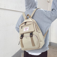 2020 Fashion Women Backpack New High Quality Zipper Female Backpacks Small Teenage School Bag Double Belt canvas patch detail double zipper canvas backpack
