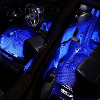 Barra de luz LED decorativa para Interior de coche, lámpara ambiental de...