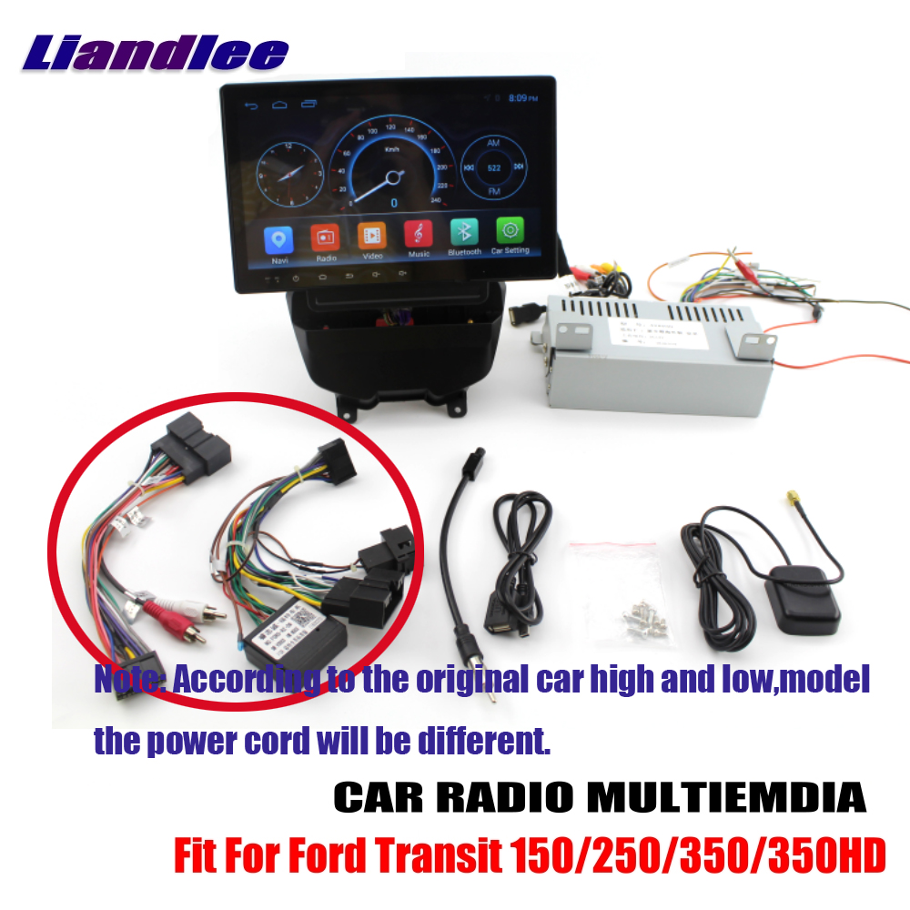 Liandlee Android For <font><b>Ford</b></font> <font><b>Transit</b></font> 150 250 350 350HD 2017~2018 Car Radio Carplay Player <font><b>GPS</b></font> Navi Navigation Map Camera OBD no DVD image