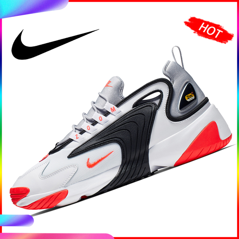 Original Nike Zoom 2K WMNS Men Running Shoes Sneakers Dad Shoes Motion Comfortable Pattern Restore Ancient Ways New AO0269-100