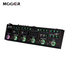 MOOER ブラックトラック 6 · イン · 1 複合ギターエフェクトペダルコンプレッサー + オーバードライブ + 歪み + EQ + 変調 + 遅延/リバーブ