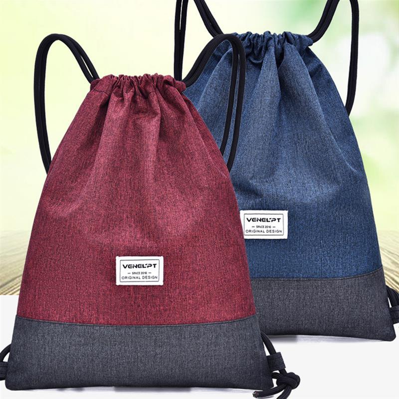 Сумка на шнурке большая емкость брызгозащищенный рюкзак на шнурке мешок на шнурке из ткани Оксфорд сумка для продуктов на шнурке