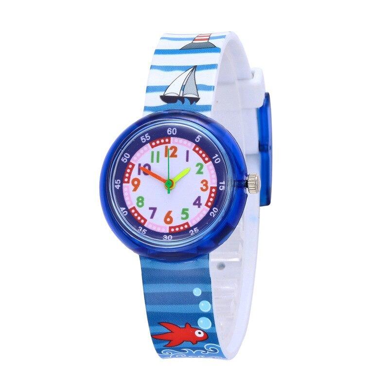 KDM Sports Watches Cartoon Pattern Children's Watch Silicone Strap Girls Clock Fashion Casual Boy Kids Gifts Quartz Wristwatches