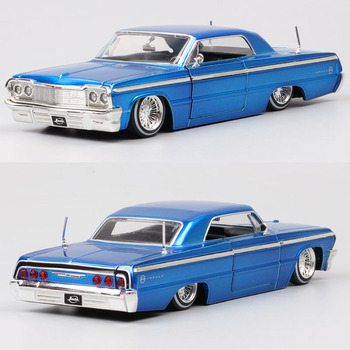Children's 1:24 Scale Vintage Old 1964 Chevrolet IMPALA Chevy Diecasts & Toy Vehicles Car Model Metal Auto Souvenir Gift Jada image