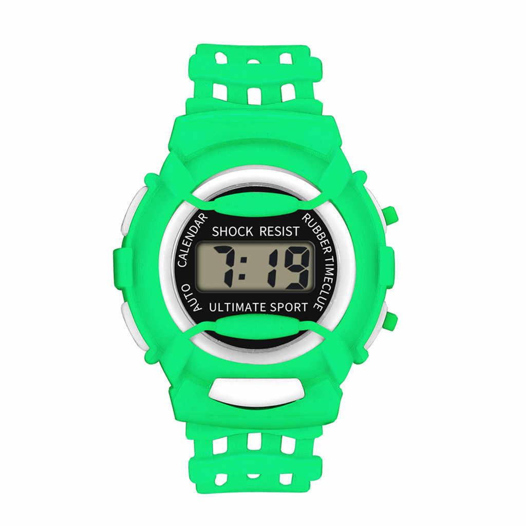 Relojes Para Niños relojes deportivos digitales LED para niños, relojes deportivos digitales LED, relojes deportivos de plástico para niños, alarma, fecha, reloj Casual, regalo