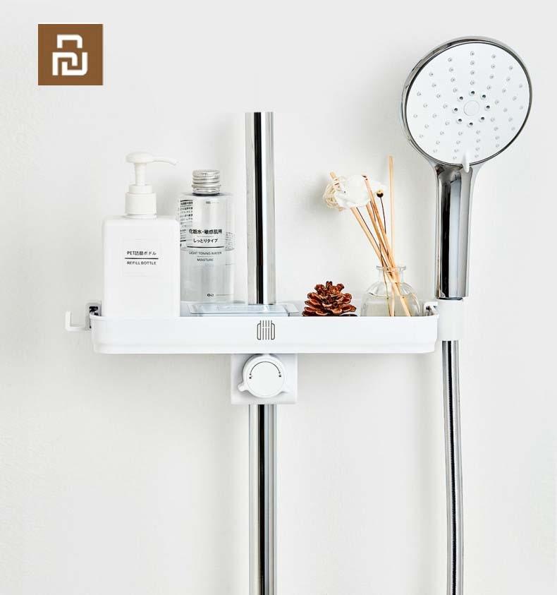 Image 3 - Youpin Dabai Portable Bathroom Showers Storage Rack Towel Hanging Shelf Hanging Storage Rack DIY Organization With HookSmart Remote Control   -