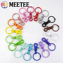 Meetee 5pcs 43*30mm Colorful Metal Buckle for Dog Hook Keychain O D Ring DIY Jewelry Handmade Harware Crafts Accessories AP598