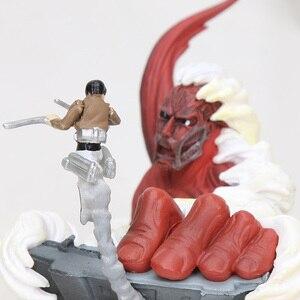 4pcs/set 6cm Anime Movie Attack On Titan Figure Eren Jaeger Colossal Titan Egg Q Version PVC Action Figures Toys Dolls Gifts D19(China)