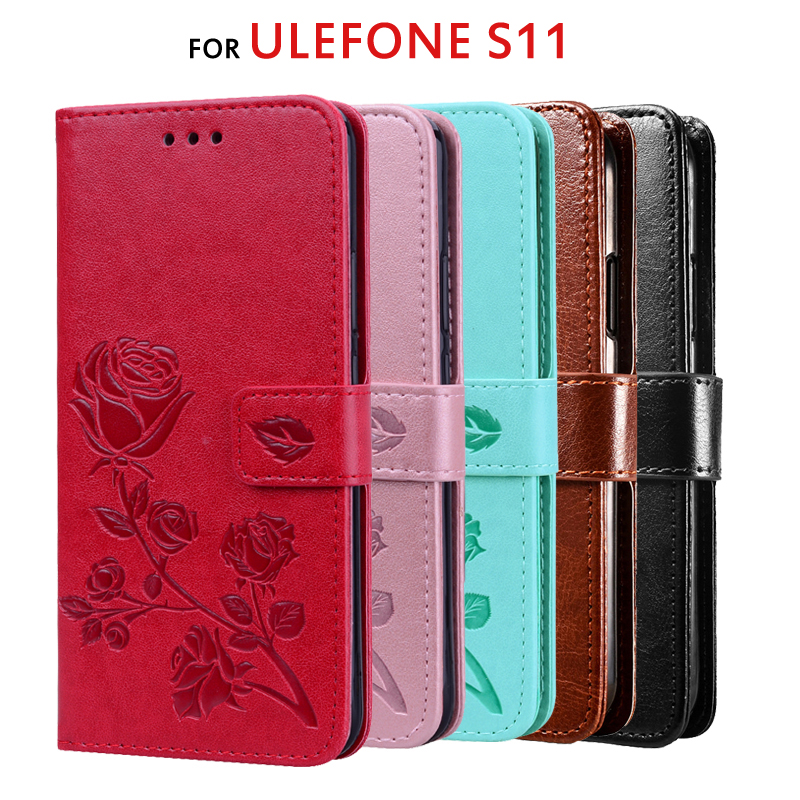 Wallet Case For Ulefone S11 Luxury Flip PU Leather 3D Pattern Hard Back Cover For Ulefone S11 Case Mobile Phone Bag 6.1 inch
