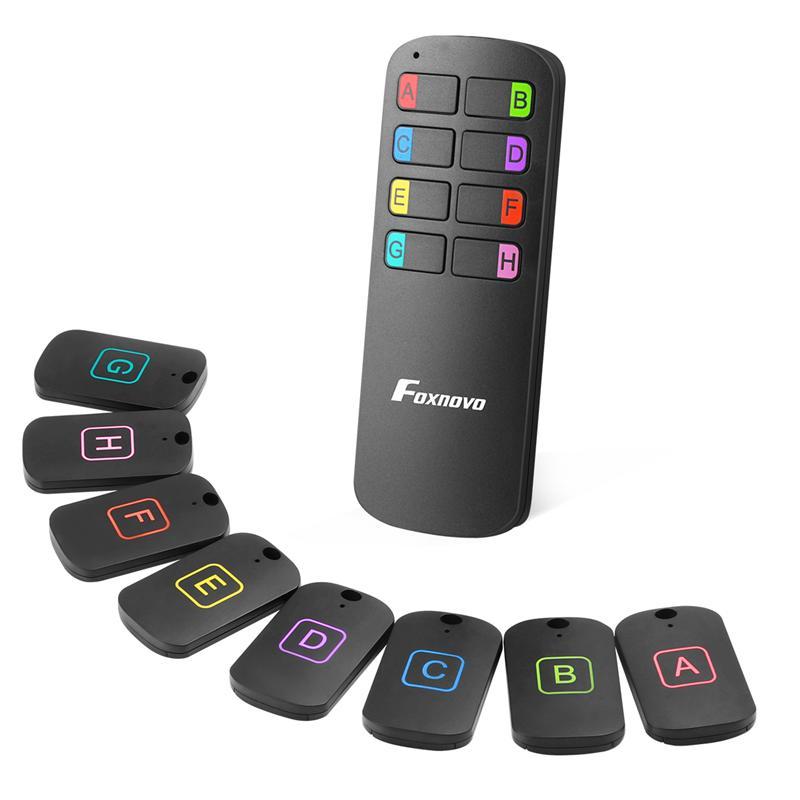 Anti-Verloren Wireless Key Finder Locator Afstandsbediening Tracker Alarm Sleutelhanger Locator Portemonnee Tracker Zender 8 Ontvangers 1