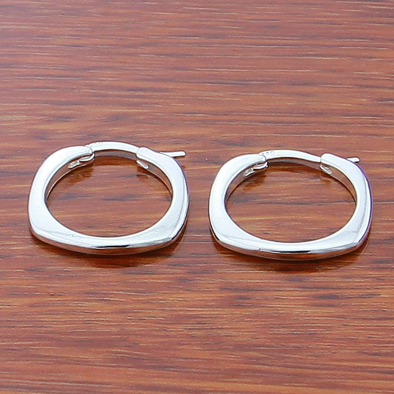 Real 925 Silver Color Endless Small Circle Hoop Earrings For Women Jewelry Anti Allergic Body Piercing Jewelry in Hoop Earrings from Jewelry Accessories
