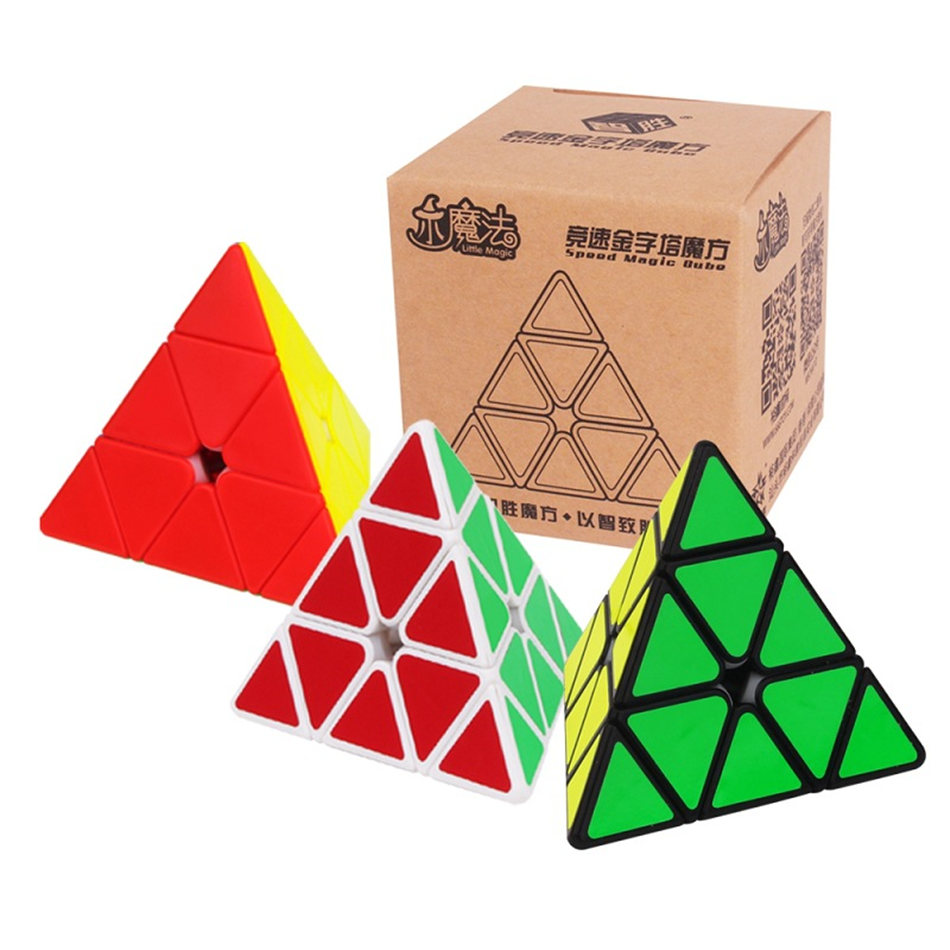 Yuxin Little Magic Cube 3x3 Pyramind Cube 3x3x3 Cubo Magico 3Layers Speed Cube Professional Puzzle Toys For Children