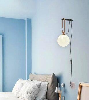 Pantalla acrílica moderna LED luces de pared dormitorio iluminación de cabecera LED lámpara de pared de LOFT pasillo escaleras accesorios de cocina