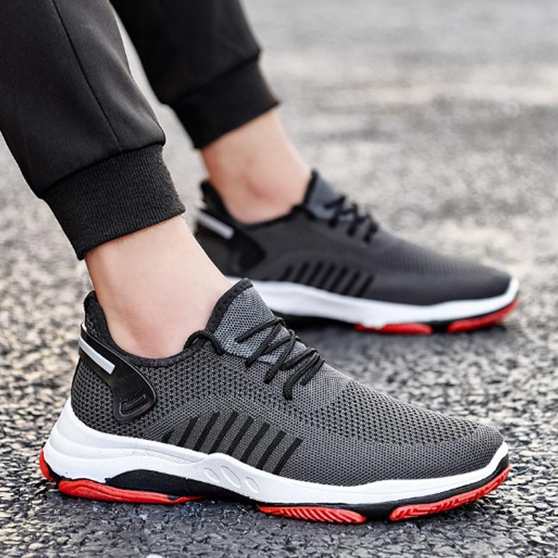 Oeak Men Sneakers Breathable Casual No-slip Men Vulcanize Shoes Male Air Mesh Lace Up Wear-resistant Shoes Tenis Masculino