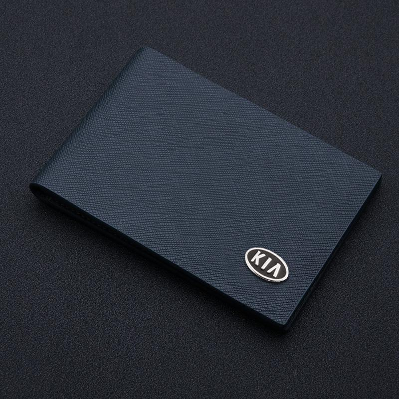 Motor Vehicle Driving License Leather Case For Kia Creative Men's And Women's Ultra-thin Credit Id Card Holder Tarjetero