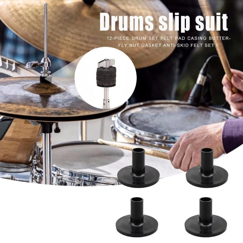 4pcs Hot Sale Drum Cymbal Sleeves Delicate Design Multi-function Plastic Drums Supports Musical Instruments Accessories