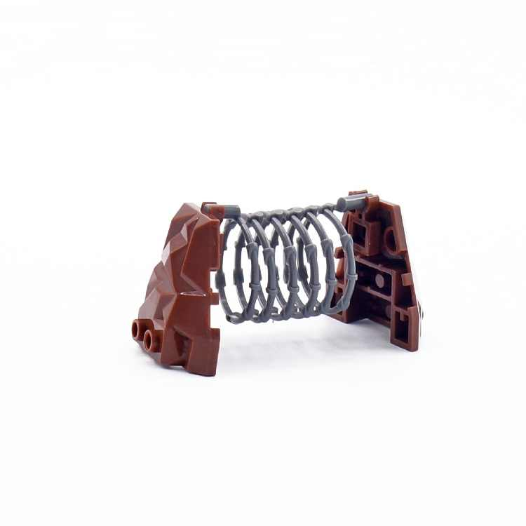 2pcs entrelaçamento fio Tijolo Blocos de Construção de Armas Militares Acessórios Cidade Compatível playmobil mini-figuras Brinquedos Originais