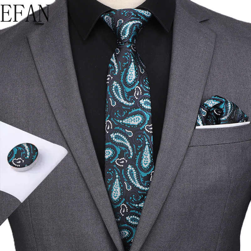 """Pria Dasi Anggur Emas Navy Paisley Bunga Bergaris 100% Sutra Dasi 3.15 """"Jacquard Pesta Pernikahan Woven Fashion Desainer Dasi untuk Pria"""
