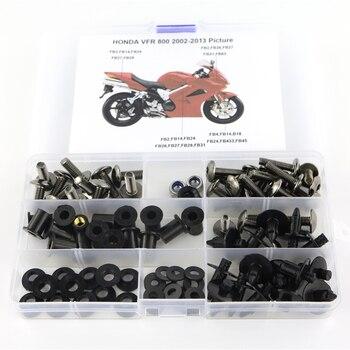 цена For Honda VFR800 VFR 800 2002-2013 Motorcycle Cowling Complete Full Fairing Bolts Kit Clips Nut Screws Steel онлайн в 2017 году