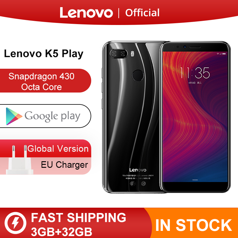 Stock Global Version Lenovo K5 Play 3GB 32GB Snapdragon 430 Octa Core Smartphone 1.4G 5.7