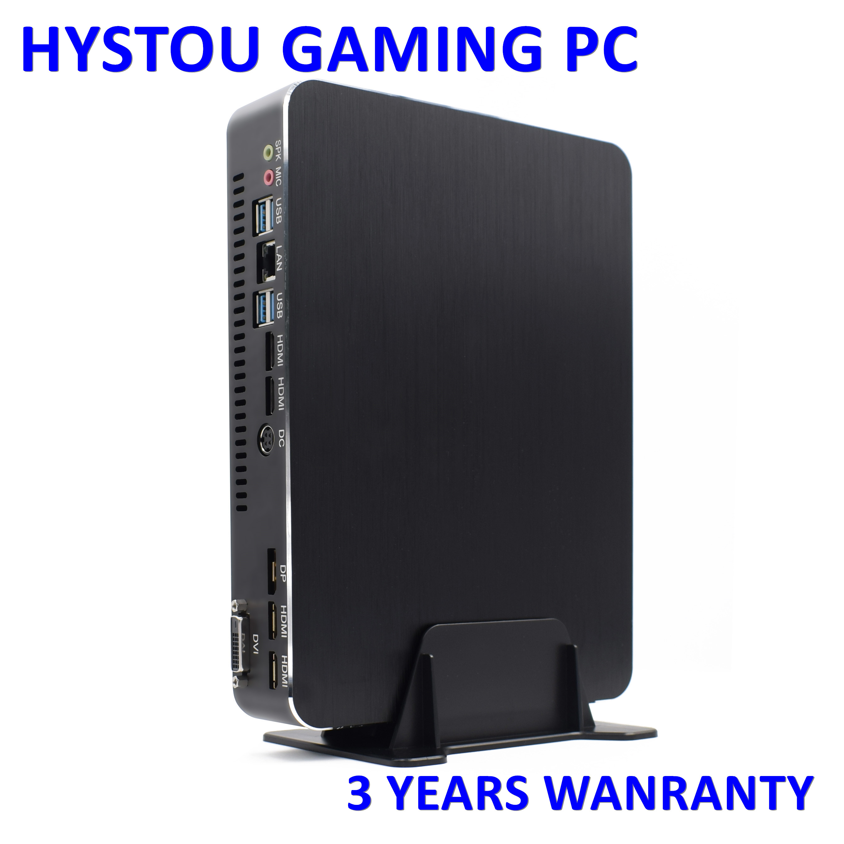 Gaming MiniPC Intel Core i7 8700 i5 9400F <font><b>Nvidia</b></font> <font><b>GTX1050Ti</b></font> HDMI2.0 DP DVI Windows10 Linux Nettop Xeon E3-1231V3 4K 60fps HTPC image