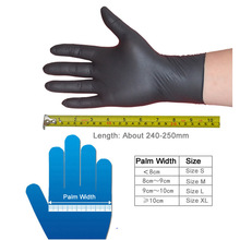 New 100pcs/pack Disposable Black Nitrile Gloves Waterproof Exam Gloves Ambidextrous For Medical House Tattoo Gloves S/M/L/XL