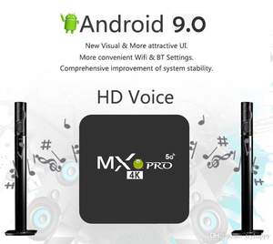 Image 2 - MX Pro 4K TV Box Amlogic S905W Quad Core 1G 8G or 2G 16G Android 9.0 Ultra 4K Streaming 4K box Smart TV Media Player Play