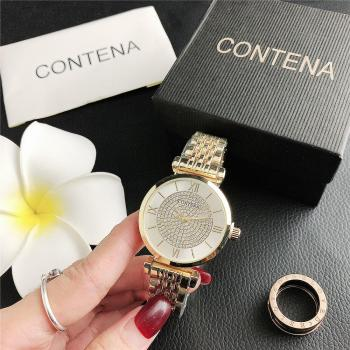 2020 Women Watches Luxury Rhinestone Gold Silver Female Wristwatch Dress Watch Bracelet Watch Ladies Quartz Clock Reloj Mujer fashion women watches rose gold silver stainless steel band analog quartz watch rhinestone bracelet wristwatch female clock