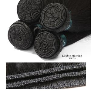 Image 5 - RosaBeauty 28 30 32 40 Inch اللون الطبيعي ضفيرة شعر برازيلي 1 3 4 حزم مستقيم 100% ريمي شعر مستعار بشري لحمة صفقات