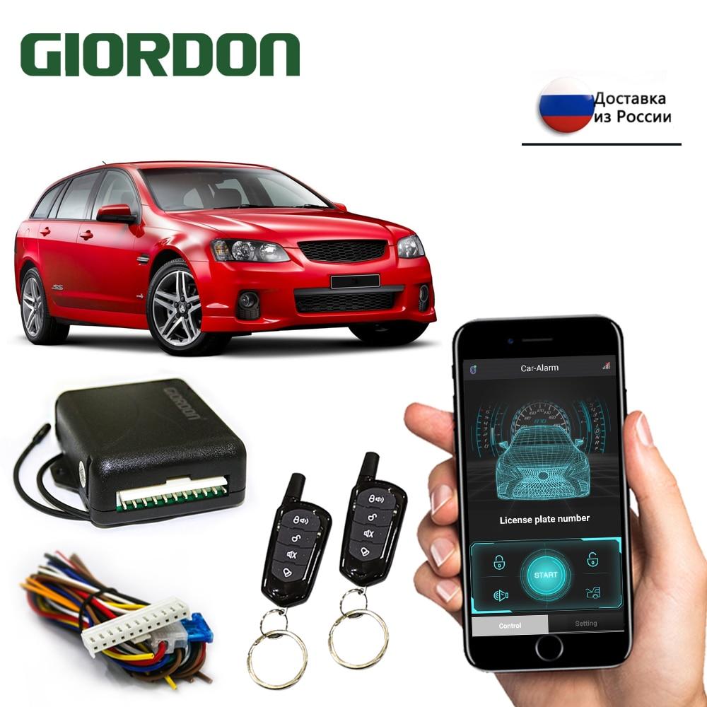 Автомобильный Центральный дверной замок GIORDON, система без ключа, центральный замок с дистанционным управлением, комплект сигнализации