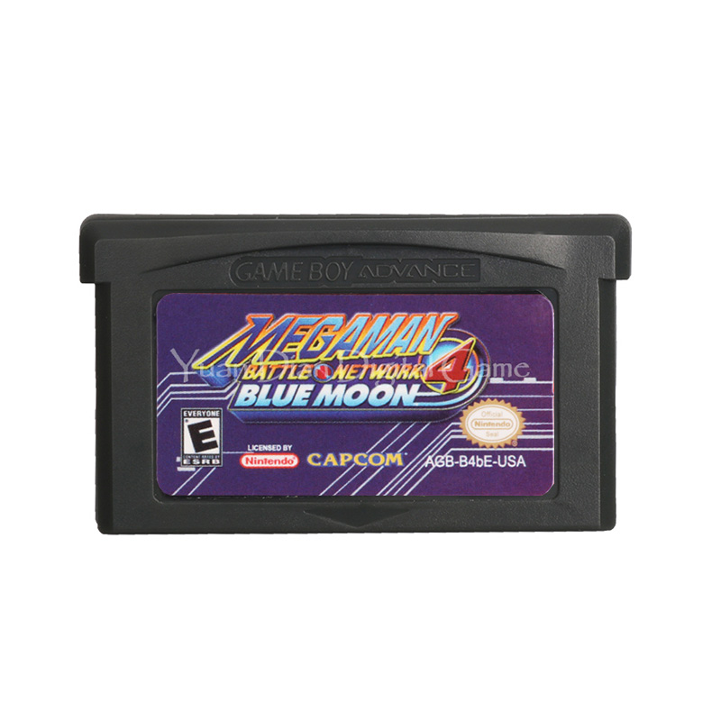 For Nintendo GBA Video Game Cartridge Console Card Mega Man Battle Network 4 Blue Moon English Language US Version