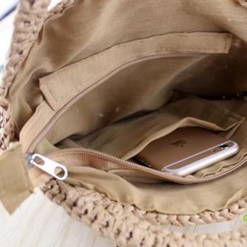 [BXX] Handmade Woven Round Handbag 2020 Spring Summer Vintage Straw Rope Knitted Messenger Bag Lady Bag Summer Beach Totes HK808 4