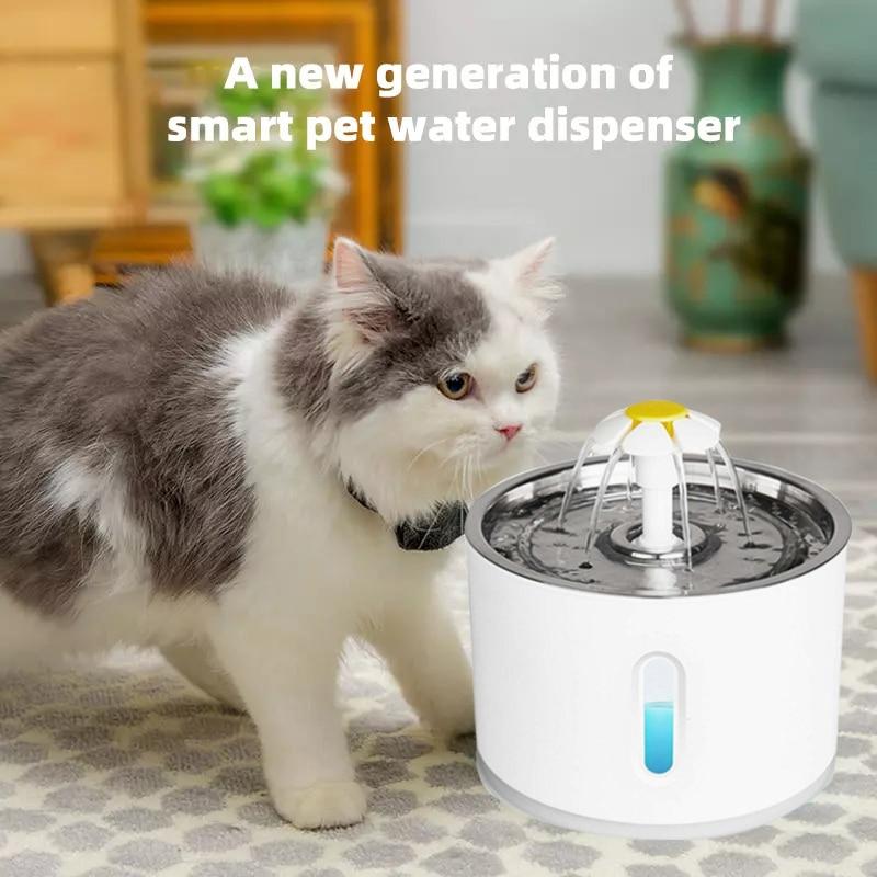 Automatyczne poidło dla zwierząt domowych Cat Dog picie wody miska USB elektryczny dystrybutory wody dla zwierząt cichy pijący automatyczny podajnik