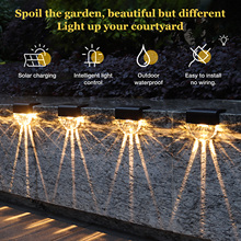 Decoration Stair-Fence Solar-Lights Patio-Stairs Yard Garden Outdoor Led for 4PCS Lamp