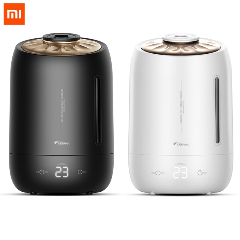 Xiaomi Deerma 5l Air Humidifier Air Purifying Mist Maker Household Timing With Intelligent Touch Screen Adjustable Fog Quantity