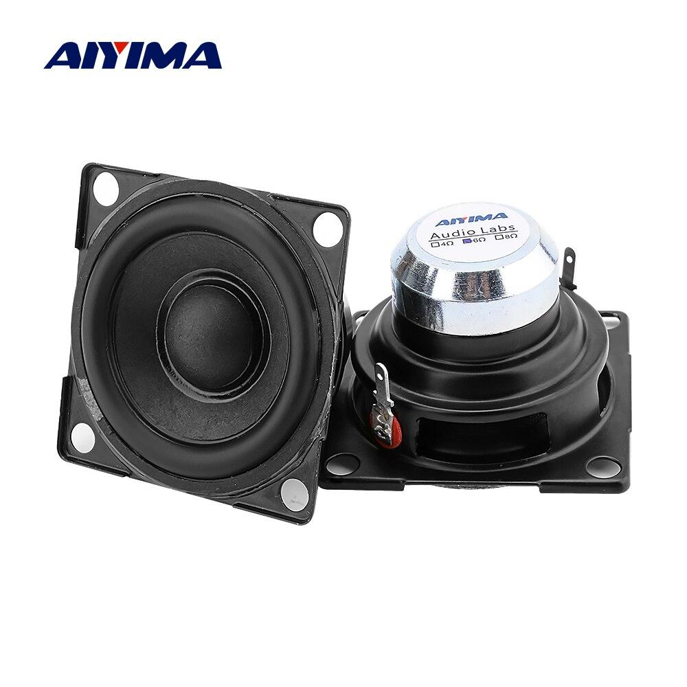 AIYIMA 2 шт 2-дюймовый Полнодиапазонный динамик 6 Ом 15 Вт усилитель звука динамик Неодимовый магнитный громкий динамик DIY домашний кинотеатр