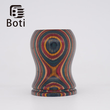 Boti brush-  New Annual Ring handle  Handmade Beard Shaping Tool Custom Size And Brush Knot Type High Quality Resin Handle