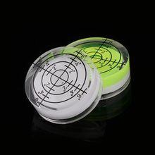 2pcs 32*12mm Round Bubble Level White Green Bullseye Spirit Level Measuring Tool63HF